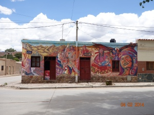 Colourful restaurant in Humahuaca